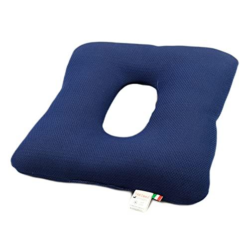TAKIMED - Cojín para silla de oficina, tejido transpirable 3D, cojín antiprostata,coxis, ciática, hemorroides, almohadilla antideslizante de regalo. Producto italiano