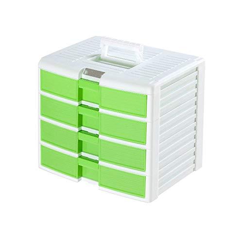 Kcakek Gabinete de almacenamiento de archivos mostrador de información del gabinete en rack de almacenamiento de plástico caja de almacenamiento de múltiples capas de cajón rack de almacenamiento de b
