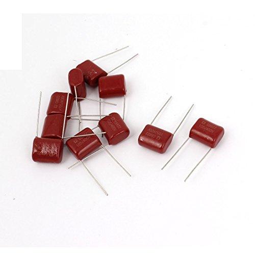 Uxcell a14111900ux0193 CBB22 400V 105J 1uf 5% Tolerancia a través del agujero Capacitores de película de polipropileno