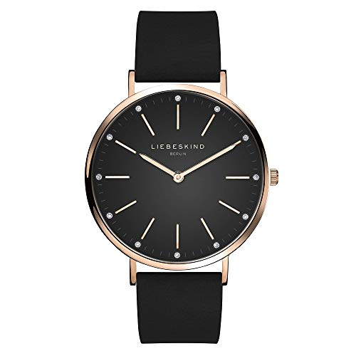 Liebeskind Berlin Damen Analog Quarz Uhr mit Leder Armband LT-0186-LQ