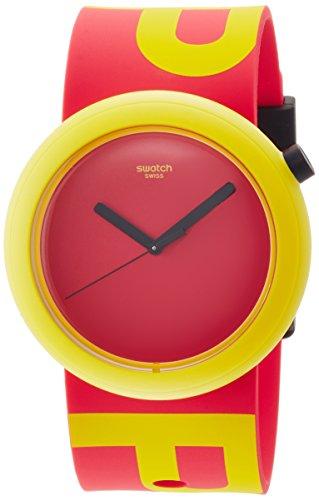 Swatch Damen Digital Quarz Uhr mit Silikon Armband PNJ100