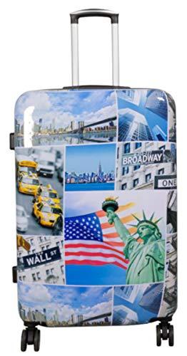 Vanity, valise à roulettes,bagage à main rigide en polycarbonate ABS - Taille XL, L, M, S Multicolore Pictures of New York. xl