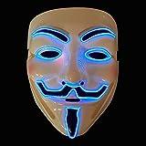 The Glowhouse El Cable de Halloween mscara de Guy Fawkes Vendetta Resplandor mscara Azul (Guy Fawkes)