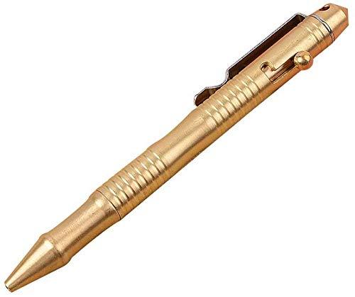 Bolígrafo SHENGYANG de latón Macizo con recargas retráctiles y bolígrafo con acción de Perno, bolígrafo de Firma Delicado portátil para Novio de Negocios, 0,5 mm, 1 Pieza