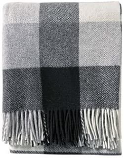 Pendleton Washable Eco-Wise Wool, Black/Ivory Throw Blanket, 54