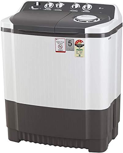 LG 7 Kg 4 Star Semi-Automatic Top Loading Washing Machine (P7020NGAY, Dark Gray, Collar scrubber)