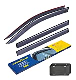 Goodyear Side Window Deflectors for Toyota Highlander 2014-2019, Tape-on Rain Guards, Window Visors for Cars, Vent Deflector, Vent Visor, Car Accessories, 4 pcs- GY003126LP