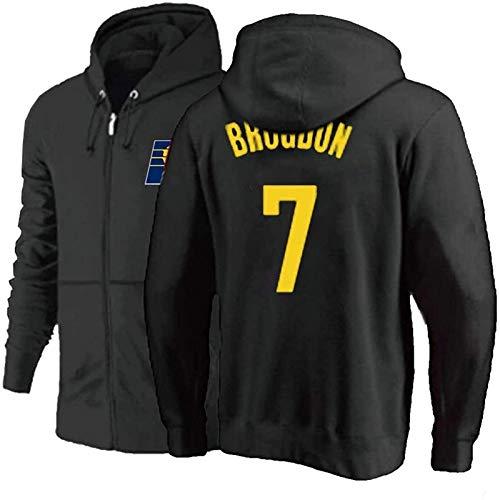 Superior, Malcolm Brogdon No.7 Indiana Pacers - Sudadera con capucha para hombre, manga larga, para entrenamiento cómodo, informal, moda callejera