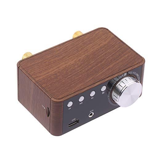 BT 5.0 Amplificador de potencia 100W Mini estéreo de alta fidelidad Clase D Amplificador de audio Receptor inalámbrico de 2.0 canales Reproductor de música sin pérdidas TF USB Altavoz doméstico