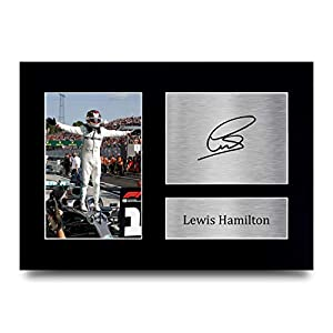 HWC Trading Lewis Hamilton Gift Signed A4 Printed Autograph