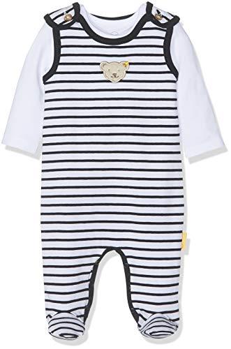 Steiff Baby-Jungen Set T-Shirt Strampler, Weiß (Bright White 1000), 74
