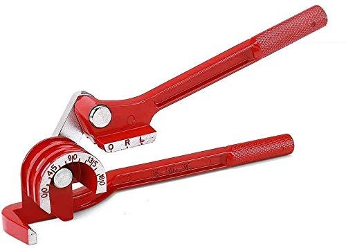 Rohrbiegegerät, 3-in-1 Rohrbieger für 0,6 cm, 5/16 Zoll, 3/8 Zoll, 0–180 Grad Rohrbiegewerkzeuge - Manueller Rohrbieger für Kupfer, Messing, Aluminium und dünne Stahlrohre.