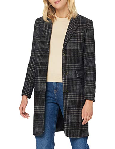 SELECTED FEMME Damen SLFELINA Wool Coat B Wollmantel, Black/Checks:Black/Blue Check, 42