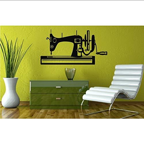 Makeyong naaimachine Silhouette ontworpen muur Stickers Home slaapkamer kunst moderne decoratieve Vinyl muur muurschildering Decals57X110Cm