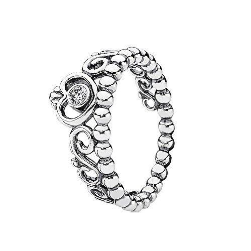 Doti Style 925 Sterling Silver Princess Queen Crown Tiara Ring (J)