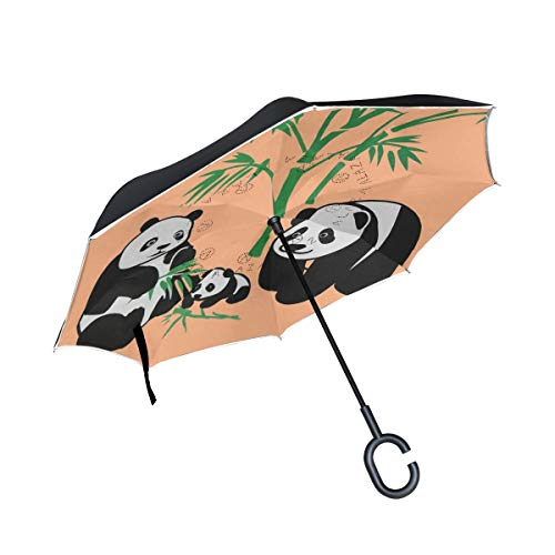 Great Features Of Double Inverted Umbrella Car Inverted Umbrella Reverse Folding Travel Umbrella Sup...
