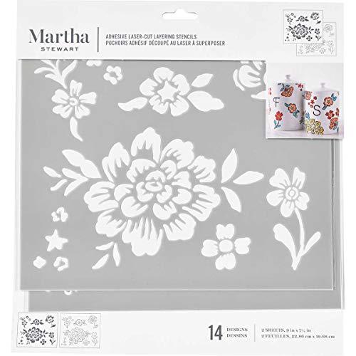 Martha Stewart Laser-Cut Layering Floral Stencil