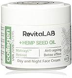 RevitaLAB - Crema hidratante antiarrugas de día y de noche con colágeno enriquecida con ácido hialurónico, Matrixyl® 3000 y un filtro UVA/UVB, franja de edad 60-75, 2x 50 ml (multipaquete)
