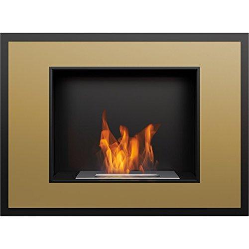 Save %18 Now! Domadeco Atlanta Gold mounted bioethanol fireplace modern style fireplace