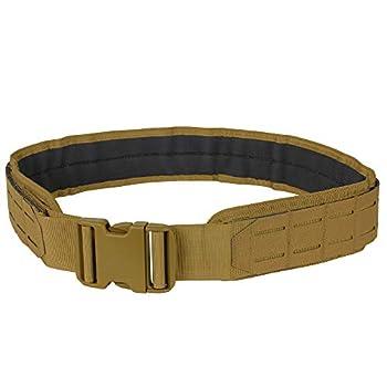 Condor Outdoor LCS Tactical Range Belt 121174  Coyote Brown Small