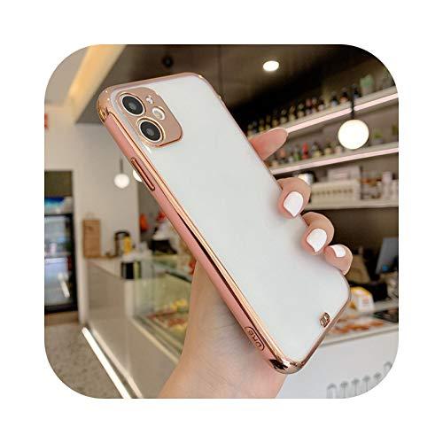 Carcasa para iPhone 11 Pro Max XR XS X XS Max Todo Incluido Teléfono Cover Para iPhone 7 8 Plus SE2-Rosa-Para iPhone XR