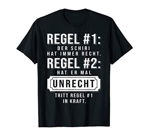 Schiedsrichter Schiri TShirt Geschenk Unparteiischer Referee T-Shirt