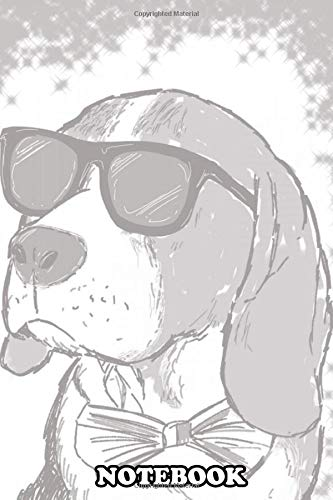 Notebook: Beagle Travel Wear Sunglasses , Journal for Writing, College Ruled Size 6