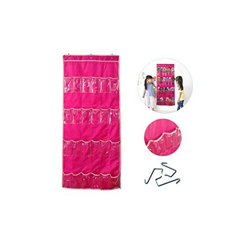 Anxicer Almacenamiento de Juguetes Colgantes para Muñeca LOL/Muñeca Sorpresa,Bolsa Organizadora de Juguetes Que se Puede Colgar en la Puerta Compatible con Muñeca Sorpresa/Barbie,Mantener Ordenado