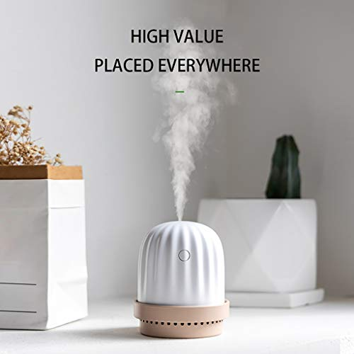 Samoii USB Cool Mist Humidifier Air Refresher, Mini Size Cactus Aromatherapy Essential Oil Diffuser for Bedroom Home Office Car