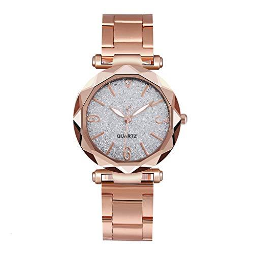 Posional Reloj de Oro Rosa para Mujer Reloj de Cuarzo Analógico de...