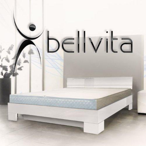 bellvita Wasserbett mit Hochglanz-Bettrahmen weiß mit Aufbau, 180 cm x 200 cm