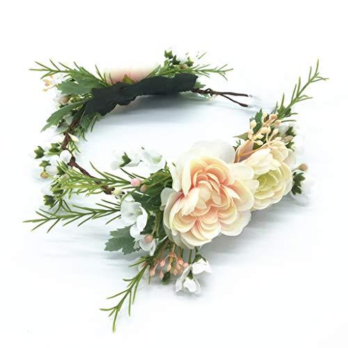 LYM Couronne de Fleurs Fleurs Bandeau Bandeau Festival du Mariage Accessoires pour Cheveux (Couleur : A)