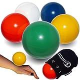Flames N Games - Pelota de Contacto + Bolsa de Ante para Todas Las capacidades, diseño de Llamas y Juegos Disponible en 3 tamaños y 5 Colores. (Rojo, 70 mm)