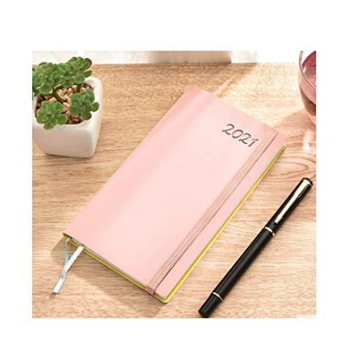 QIFFIY Diario A6 de tapa dura de 3,9 x 6,8 pulgadas, tendencia creativa con forro diario de viaje, diario de trabajo, hogar, regalo de estudiante (color: rosa)