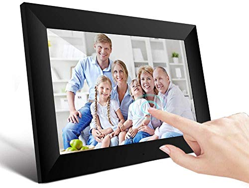 Marco Digital, UCMDA WiFi Frame Marco Digital de Fotos Cloud 10 Pulgadas con Pantalla Táctil FHD IPS 1280x800 16GB Rotación Automática Smart Marco, Comparta Imagen y Videos a Través de la Aplicación