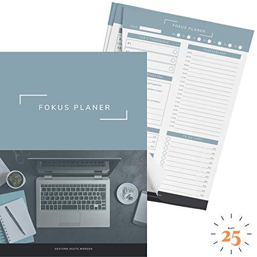gestern.heute.morgen   Produktivitätsplaner im praktischen A4 Format (25 Blatt)