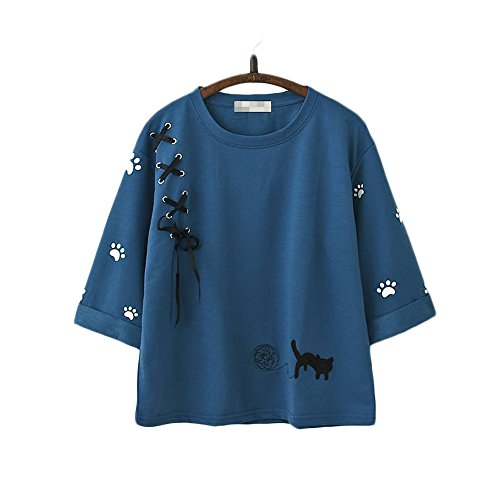Himifashion Damen Kapuzenpullover One size Gr. One size, blau
