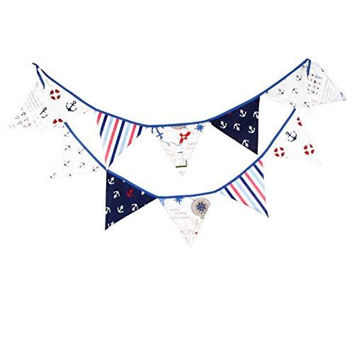 JZK Guirnalda de banderines de Tela para Boda cumpleaños Bautismo Sagrada comunión Decoraciones
