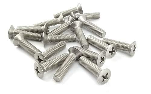 DIN 7985 acero inoxidable A2 25 tornillos alomados M6 x 20 con ranura en cruz