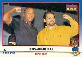 Sugar Ray Leonard & Roberto Duran Trading Card (Boxing) 1991 Kayo #37