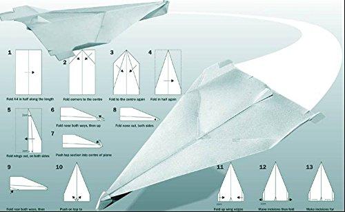Het Museum Outlet grafieken van - Papier Vliegtuig - A3 Poster Print