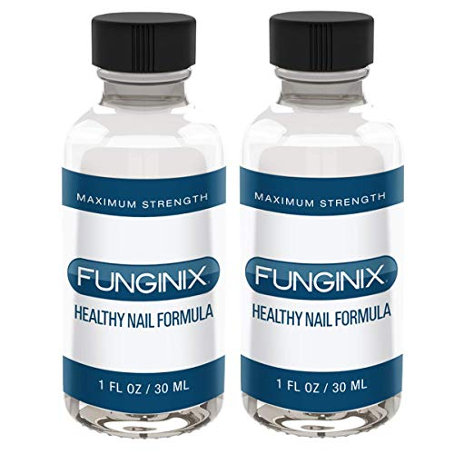 FUNGINIX Healthy Nail Formula – Finger and Toe Fungus Treatment, Made in USA, Eliminate Fungal Infections, Maximum Strength Solution (2 Bottles)