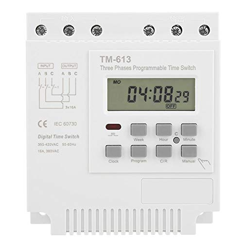 Aeloa Digital Countdown Plug-in timer-stopcontact, 7 dagen per week programmeerbaar, driefase, 380-V-stopcontacttimer, energiebesparende binnentimerstekker