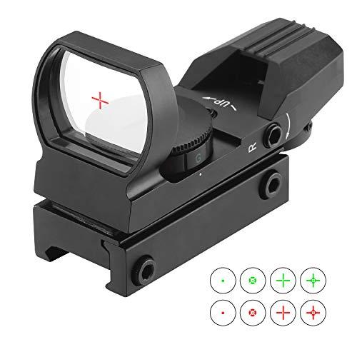 ESSLNB Red Dot Scope 4 Reticles Gun Sight Scope Reflex Sight for Airsoft Guns Pistol Shotgun with 20/22mm Weaver Picatinny Rail Mount (Black Sight Scope)