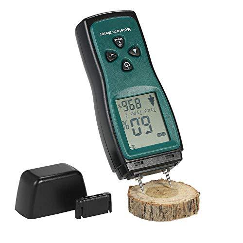 Holzfeuchte-Messgerät, beweglicher Digital Feuchtefühler, 7-Modi High Precision Pin-Typ Dampness Tester for Holz Baustoffs Brennholz Wände Papier Boden yqaae