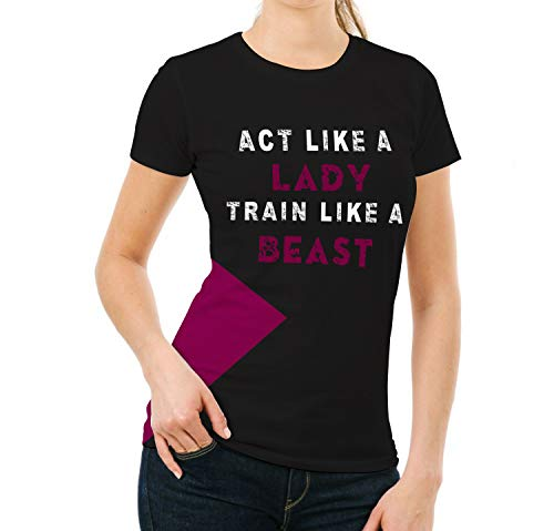 Miracle Mugs Workout Gym Shirts for Women - Adult Act Like a Lady Yoga Tshirt (S)