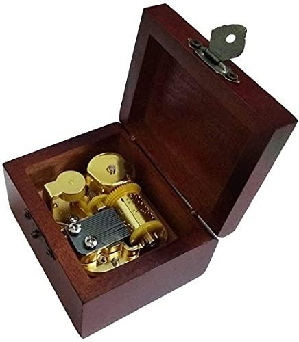 Caixa musical de madeira de corda antiga com 18 notas com movimento banhado a ouro em Lírio da Elfen Lied Music Box-Golden Perfect