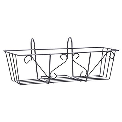 Cabilock - Macetero de hierro forjado para plantas colgantes, macetas con gancho para balcón,...