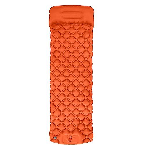 OUDOR Esterilla autoinflable impermeable para dormir con almohadilla de dormir para acampar, senderismo, mochilero (naranja)