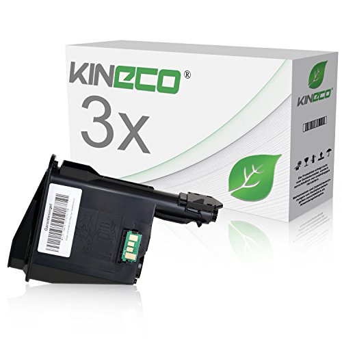 3 Toner kompatibel mit Kyocera TK1125 FS-1061DN 1325 MFP - 1T02M70NL0 - Schwarz je 2.100 Seiten
